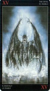 15 Дьявол Темное Таро Ройо