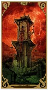 16 Аркан Башня  Таро Ночного Солнца Фабио Листрани