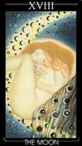 18 Аркан Луна Золотое Таро Климта