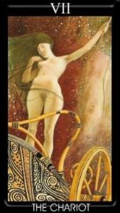 7 Аркан Колесница Золотое Таро Климта